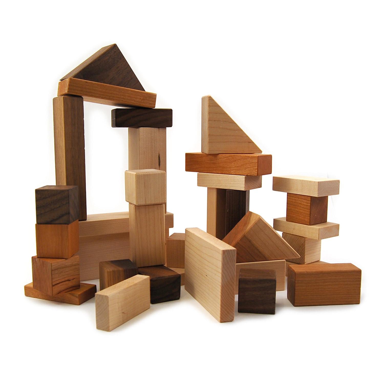 Montessori Wooden Building Blocks Etsy