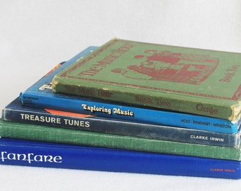 Old book journal--you choose the book / Vintage School Music Books / Recycled Book by PrairiePeasant