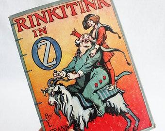 Vintage Book Journal / Recycled Old Book / Rinkitink in Oz Rebound Journal Blank Book by PrairiePeasant
