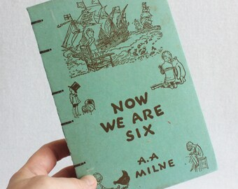 Winnie the Pooh Journal / Vintage Book Journal / Recycled Old Book Journal / Now We Are Six Rebound Journal / by PrairiePeasant