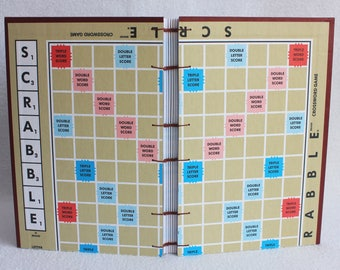 Scrabble Journal Recycled Game Board Book / Gameboard Notebook / Large size / 12 / by PrairiePeasant