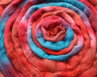 Falkland Wool Spinning Fiber - 'Flannel Shirt'