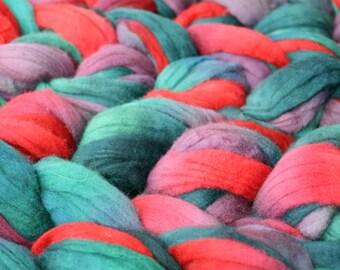 Targhee Wool Spinning Fiber - 'Flannel Shirt'