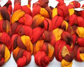 Targhee Wool Spinning Fiber - 'Firecracker'