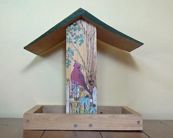 Sheltered Platform bird feeder