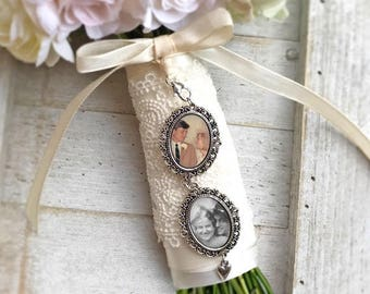 Charms for Bouquets, Photo Bouquet charm, Personalized Bouquet Charm, Wedding Memorial Charm, Gift for Best Friend, Flower Bouquet Charm
