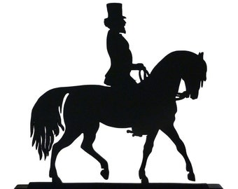 Equestrian in the Dressage Show Ring Decorative Wood Display Silhouette  safh001