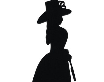 Victorian Lady Handmade Wood Display Silhouettes Decoration  swmn007