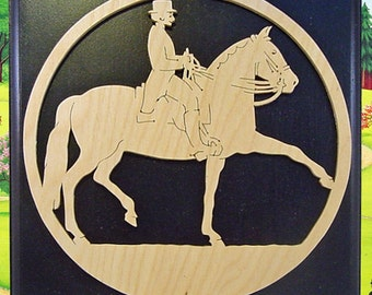 Female Equestrian Rider Fretwork Wall Hanging