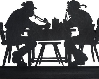Drinking Buddies Handmade Wood Display Silhouette Decoration  smen003