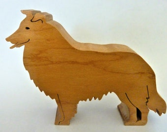 Collie Dog Maple Cut Out