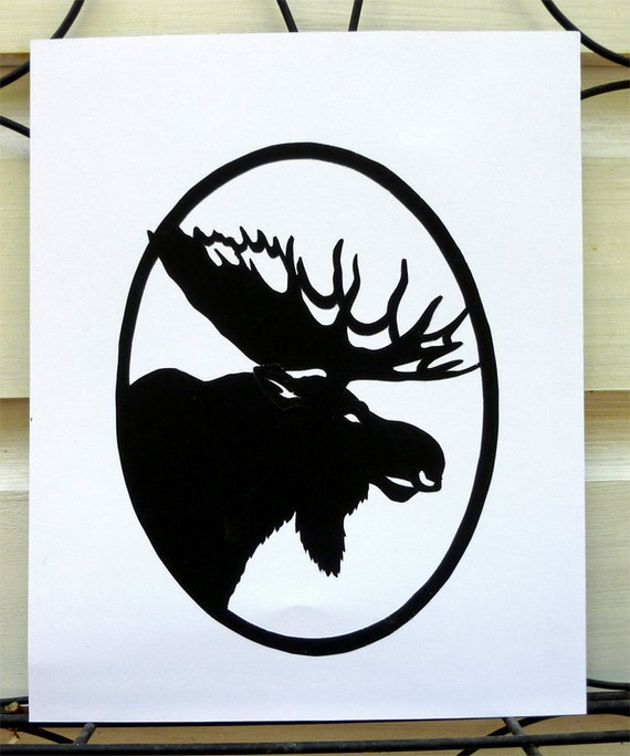 Moose Head Paper Cutting Art
