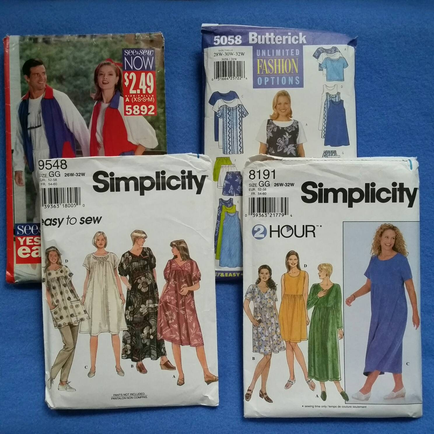 4dd755a5d6196 Mixed Lot of Used Vintage Sewing Patterns 4 cut and partially   Etsy