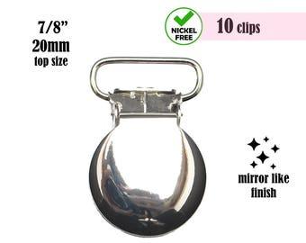 Metal Pacifier Clips, Round Suspender Clips, Dummy Clip, Soothie Pacifier Clip, Paci Clip, Soother Clip Supplies, Suspender Hardware #293011