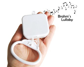 Music Box Movement for Baby Pull String Toys, Crib Mobile, Pull String Music Box or Toy, Musical Movement Insert - Brahm's Lullaby Song