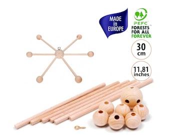 Baby Mobile DIY, Wooden Mobile DIY Kit, Crib Mobile, Wooden Mobile Baby, DIY Baby Mobile Kit for Crib Mobile Hanger, Nursery Mobile