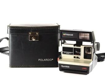 Polaroid Sun 600 LMS Instant Camera with Black Polaroid Carrying Case -  Tested ae5fda0acb3