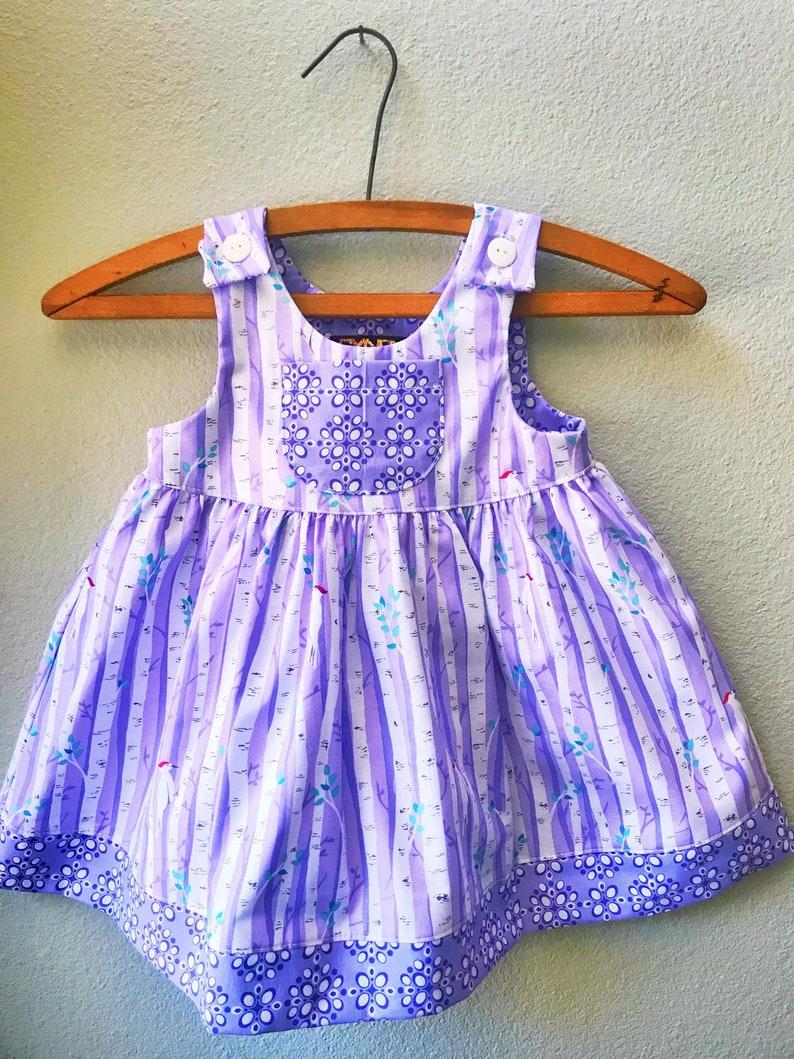 Little Girls Dress Summer Girls Dress Lavender Purple image 0