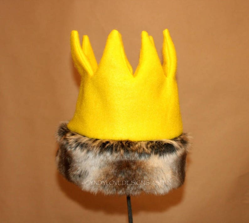 Wild Thing Crown with Fur Trim Max Crown Gold Crown Wild image 0