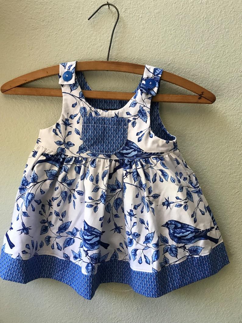 Little Girls Gretl's Blue Bird Summer Beach image 0