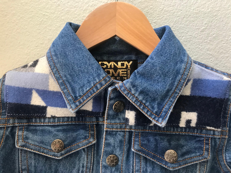 2a44b925b3c3f Kids Denim Vintage Native American Jean Jacket with Oregon