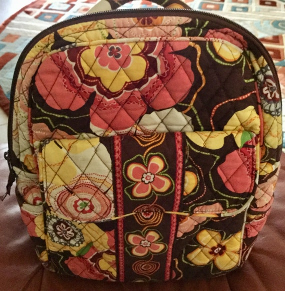 Vintage Vera Bradley Backpack Purse Satchel Purse Cotton  d2e3999ea3937