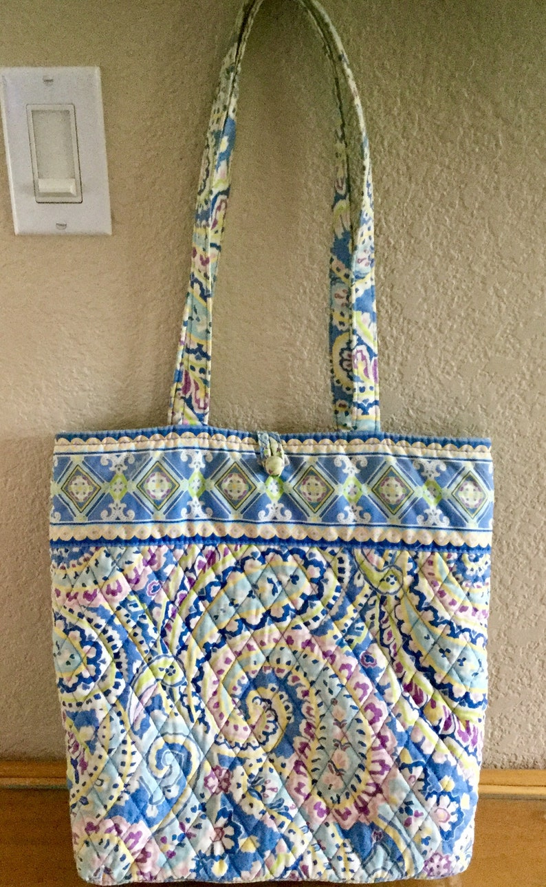 03419f53d0 Vintage Vera Bradley Tote Satchel Purse Cotton Fabric