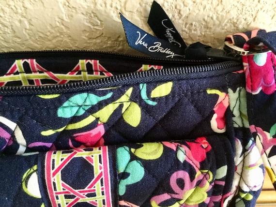 Navy and Pink Floral Juniper Bag