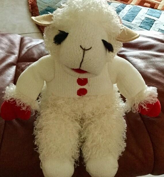 Vintage 2001 Sherry Lewis Lamb Chop Stuffed Animal 11 Tall Etsy
