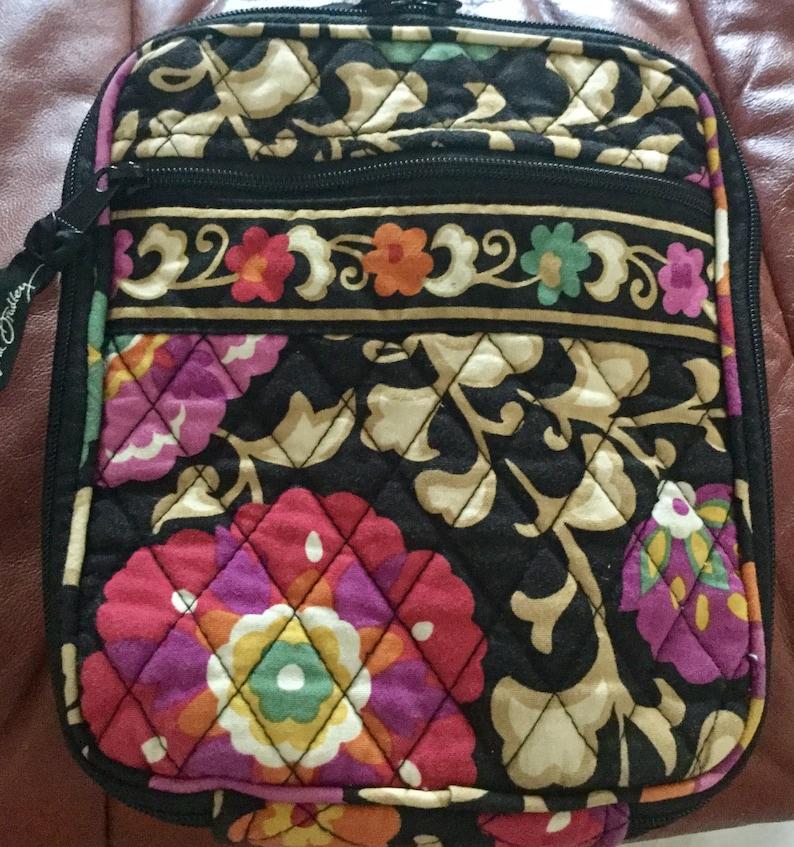 Vintage Vera Bradley Lunch Bag Cotton Fabric Plastic Lined  72c0bd4dd5e75