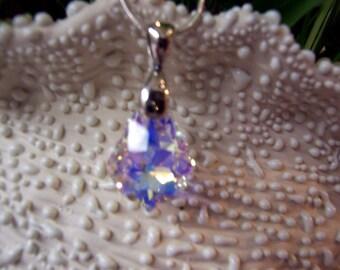 Pendant - Swarovski Baroque Crystal AB Pendant
