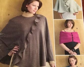 Vogue 677 Misses Wrap, Cape and Shrug Pattern,  size Large-ExLarge, uncut