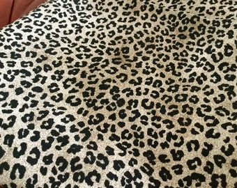 Heavyweight Cotton Gold Black Animal Print, 45 inches wide - by the yard