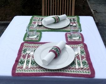 pdf pattern for Cottage garden Place Settings