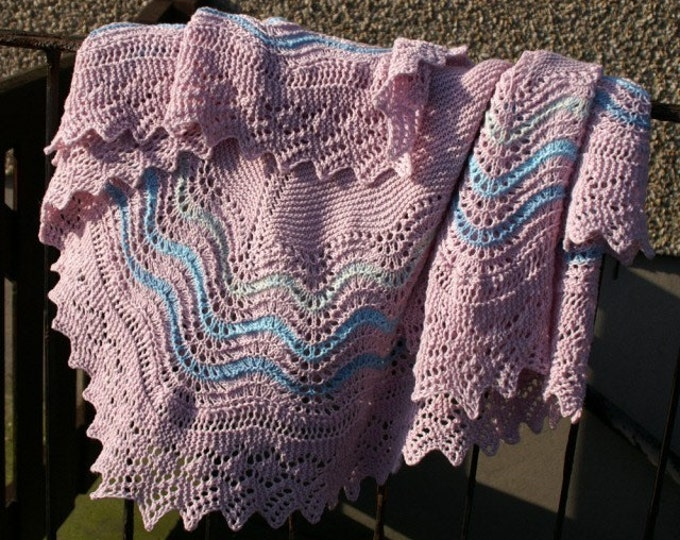 pdf pattern for Hap Shawl Pattern by Elizabeth Lovick - instant download