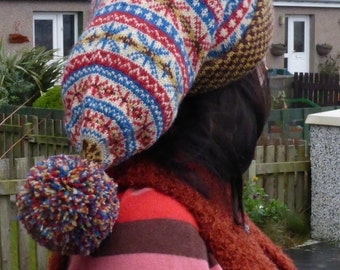 pdf pattern for a Double Layer Ha'af Cap by Elizabeth Lovick