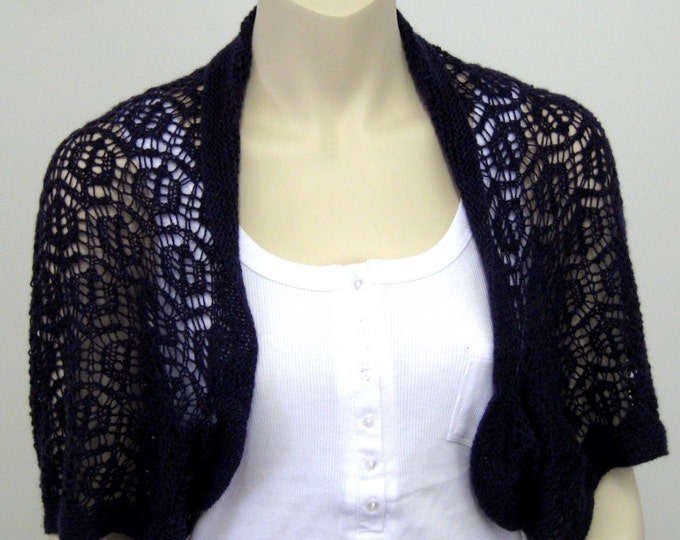 pdf pattern for the Hexagon Shrug by Elizabeth Lovick - instant download