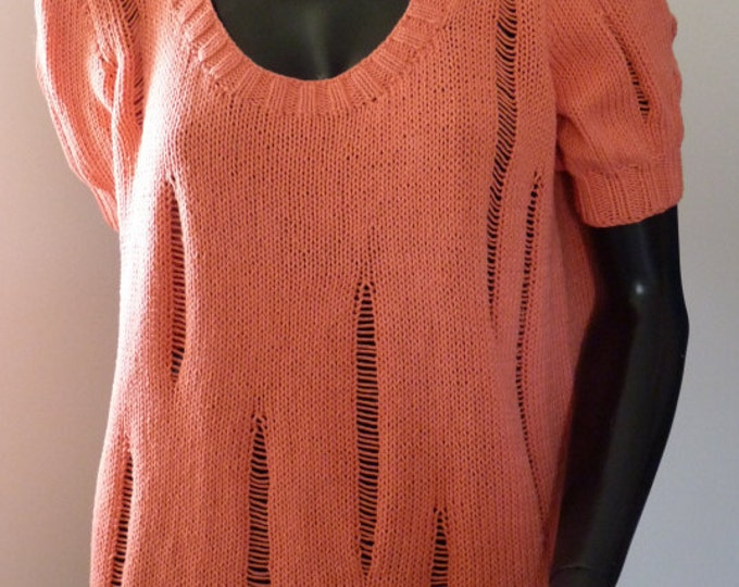 pdf pattern for the Raggedy Sweater by Elizabeth Lovick - instant download