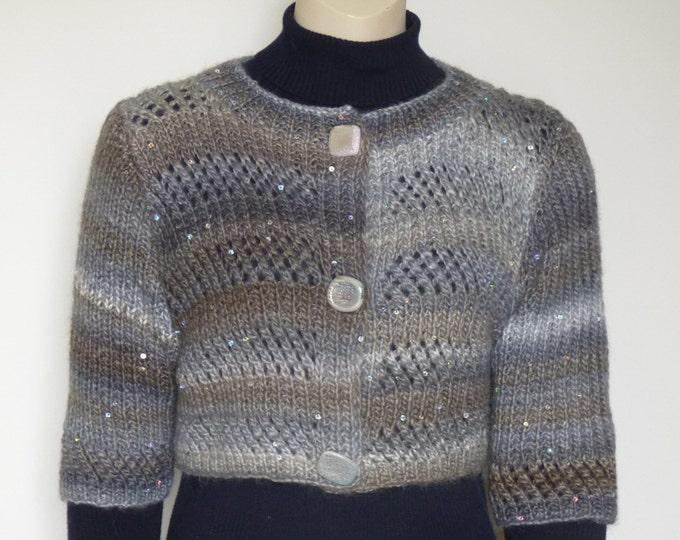 pdf pattern for the Glitzy Short Jacket by Elizabeth Lovick