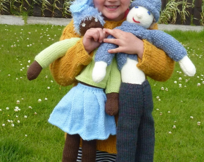 pdf pattern for Knitted Rag Dolls by Elizabeth Lovick