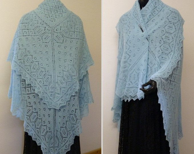 pdf pattern for The Yarn Forward Mystery Shawl by Elizabeth Lovick - instant download
