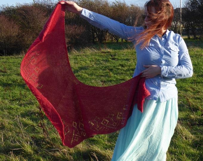 pdf pattern for the Faroese-Inspired Shawl by  Elizabeth Lovick