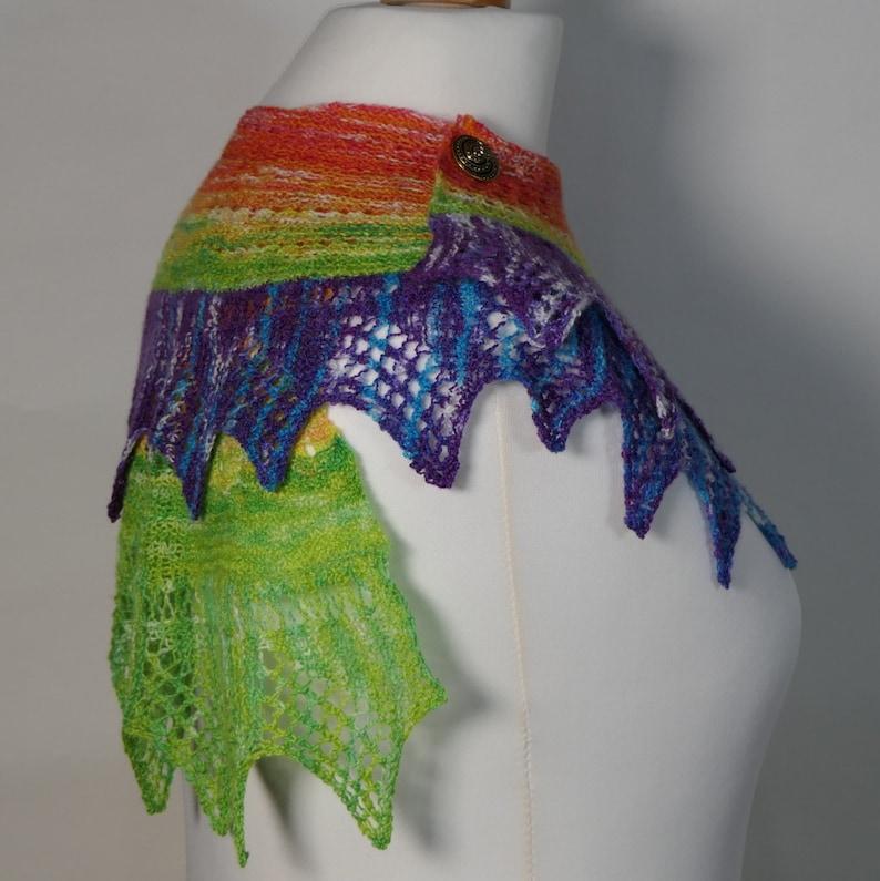 pdf Pattern for the Dream of Rainbows Spiral Shawl by  Elizabeth Lovick