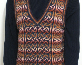 pdf pattern for the Pierowall V Neck Vest by Elizabeth Lovick - instant download