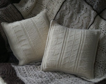 pdf pattern for Two Gansey Sampler Pillows/Cushions by Elizabeth Lovick - instant download