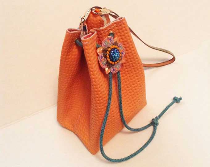 Tangerine Citrus Sorbet Mini Bucket Bag