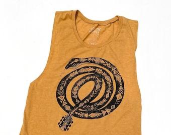 Guitar Snake   //  Ladies Muscle Tank
