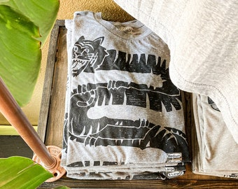 Double Tiger  //  Adult Crew T-shirt