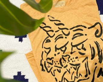 Uni Tigers //  Adult Crew T-shirt