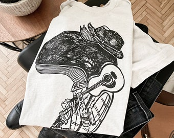 Hell Whale Man  //  Adult Crew T-shirt